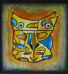David Gore – 50 x 50 acrylique, sable sur toile