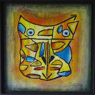 David Gore - 50 x 50 acrylique, sable sur toile
