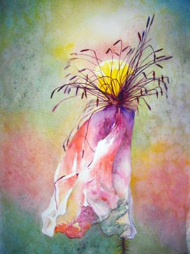 Jean-Louis Hanniet - L'été au soleil - 27 x 41 - aquarelle