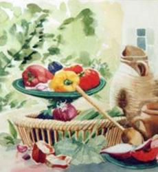 Jean Montibus – «Nature morte aux poivrons»