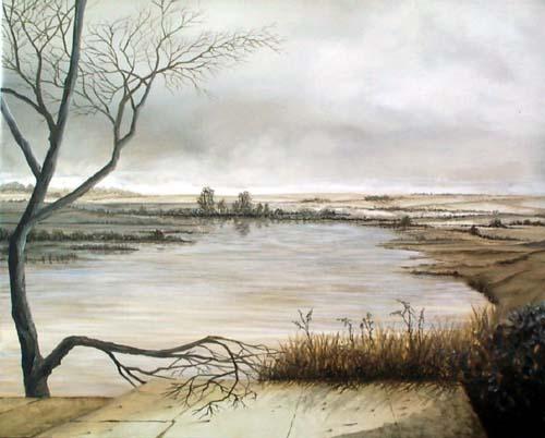 """Jean-Pierre Rysman - """"A venir"""" - Huile sur toile - 65 x 54"""