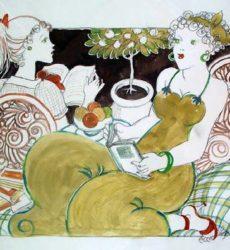 Serge Marjisse – «La lecture au jardin «